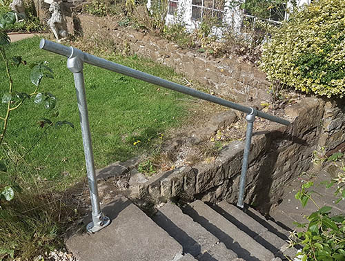 Floor Mounted Handrails for Steps