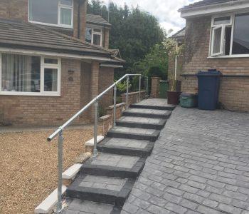 Floor mounted handrails