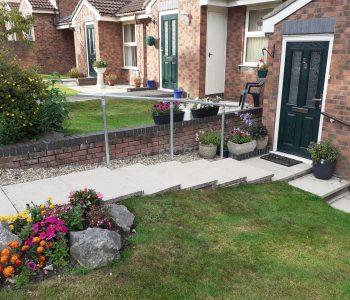 Handrail for garden steps