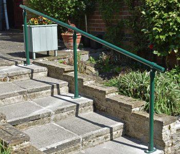 Powder coated handrail